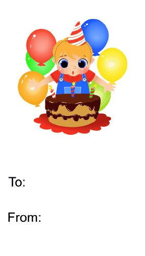 Birthday Boy Cake Candles (no background) Gift Tag gift tag