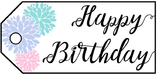 Birthday Flowers Gift Tag gift tag