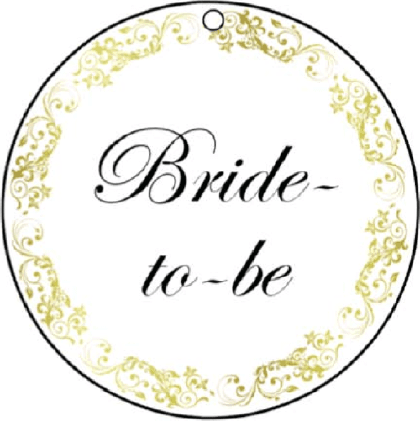 Bride-To-Be Gift Tags gift tag