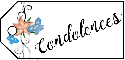 Condolences Flowers Gift Tag gift tag