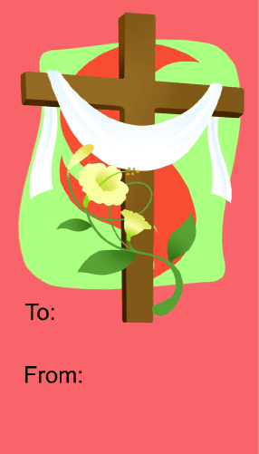 Easter Cross gift tag