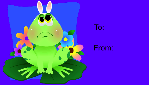Easter Frog gift tag
