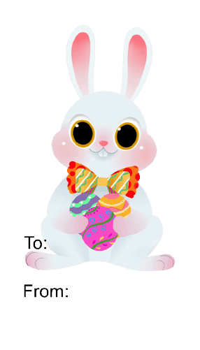Easter Rabbit (white background) gift tag