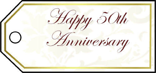 Fiftieth Anniversary Gift Tags gift tag