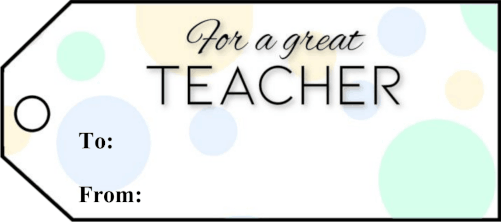 For A Teacher Gift Tags gift tag