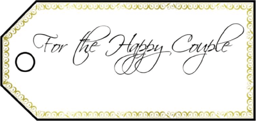 For The Happy Couple Gift Tags gift tag