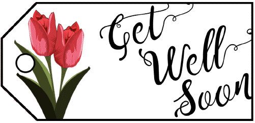 Get Well Flowers Gift Tag gift tag