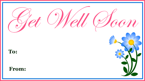 Get Well Gift Tag gift tag