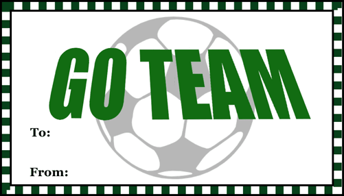 Go Team Soccer Gift Tag gift tag