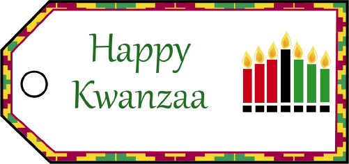 Happy Kwanzaa Gift Tags gift tag