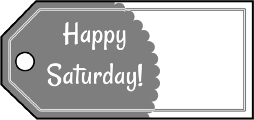Happy Saturday Gift Tags gift tag