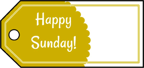 Happy Sunday Gift Tags gift tag