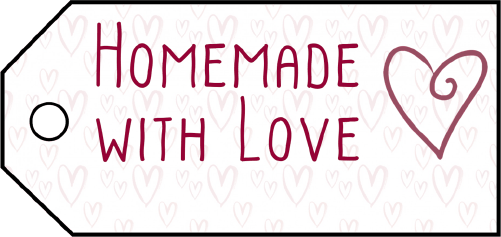 Homemade With Love Gift Tags gift tag