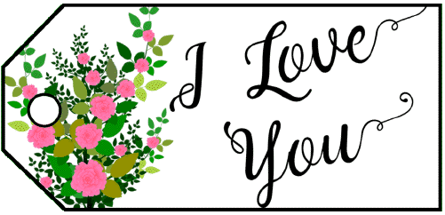 I Love You Flowers Gift Tag gift tag