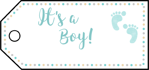 Its A Boy Footprints Gift Tags gift tag