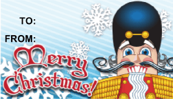 Merry Christmas Nutcracker gift tag
