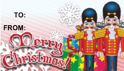 Merry Christmas Nutcrackers gift tag
