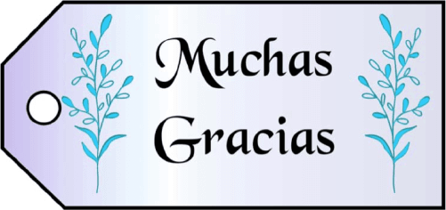 Muchas Gracias Gift Tags gift tag