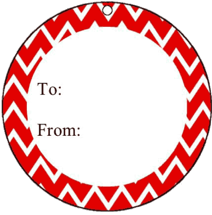 Round Gift Tag Chevrons gift tag
