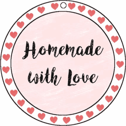 Round Gift Tag Homemade With Love gift tag