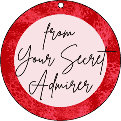 Round Gift Tag Secret Admirer gift tag