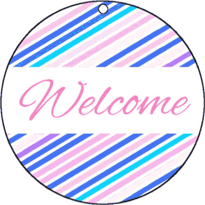 Round Gift Tag Welcome gift tag