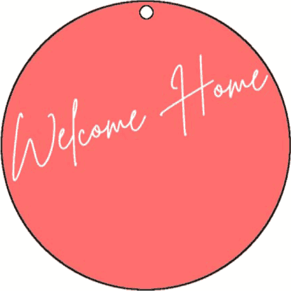 Round Gift Tag Welcome Home gift tag