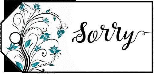 Sorry Flowers Gift Tag gift tag