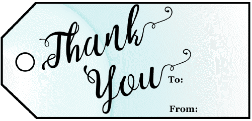 Thank You Blue Gift Tag gift tag