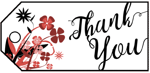 Thank You Flowers Gift Tag gift tag