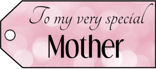To My Mother Gift Tags gift tag