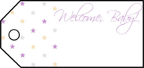 Welcome Baby Stars Gift Tags gift tag