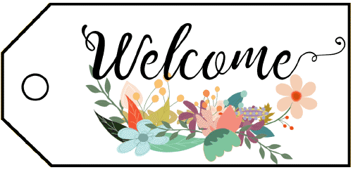 Welcome Flowers Gift Tag gift tag
