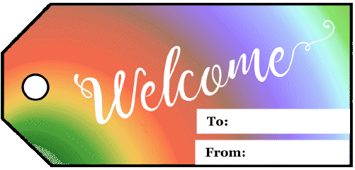 Welcome Gift Tag gift tag