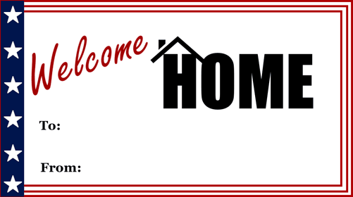 Welcome Home Gift Tag gift tag