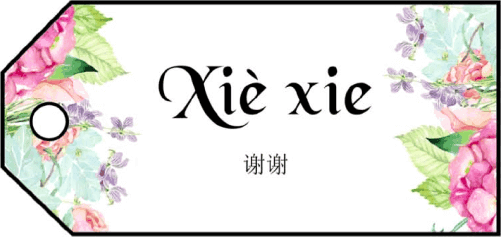 Xie Xie Gift Tags gift tag
