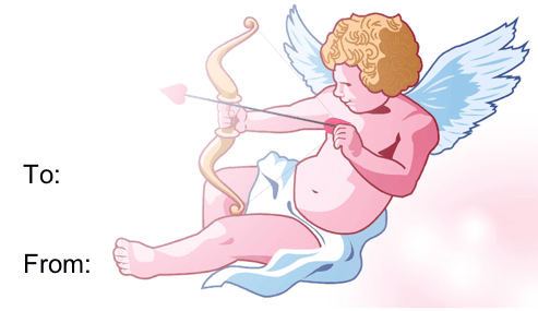 Cupid gift tag