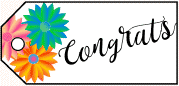 Congrats Flowers Gift Tag