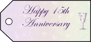 Fifteenth Anniversary Gift Tags