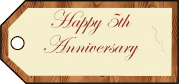 Fifth Anniversary Gift Tags