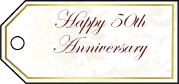 Fiftieth Anniversary Gift Tags