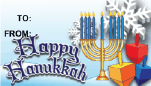 Happy Hanukkah Snowflakes