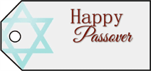 Happy Passover Gift Tag