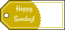 Happy Sunday Gift Tags