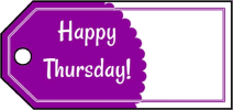 Happy Thursday Gift Tags