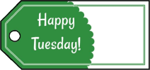 Happy Tuesday Gift Tags