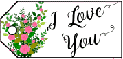 I Love You Flowers Gift Tag