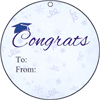 Round Gift Tag Graduation gift tag