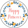 Round Gift Tag Happy Passover