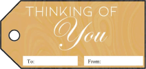 Thinking Of You Gift Tags